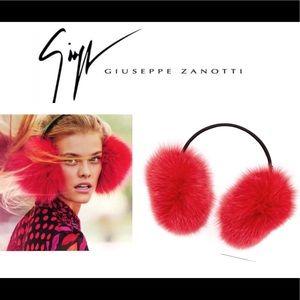 giuseppe zanotti ❄️ NEW ❄️ plush fox fur earmuffs